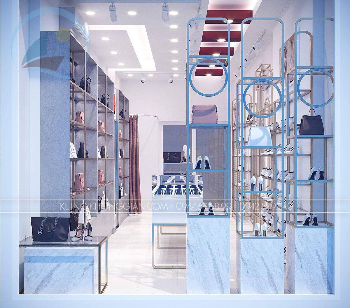 thiết kế shop giày dép túi xách online