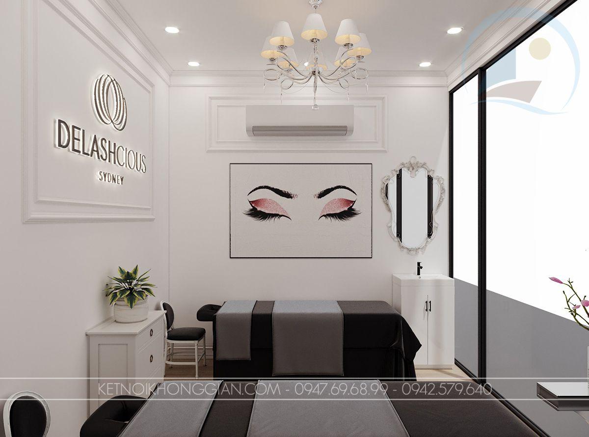 thiết kế nội thất cửa hàng nối mi