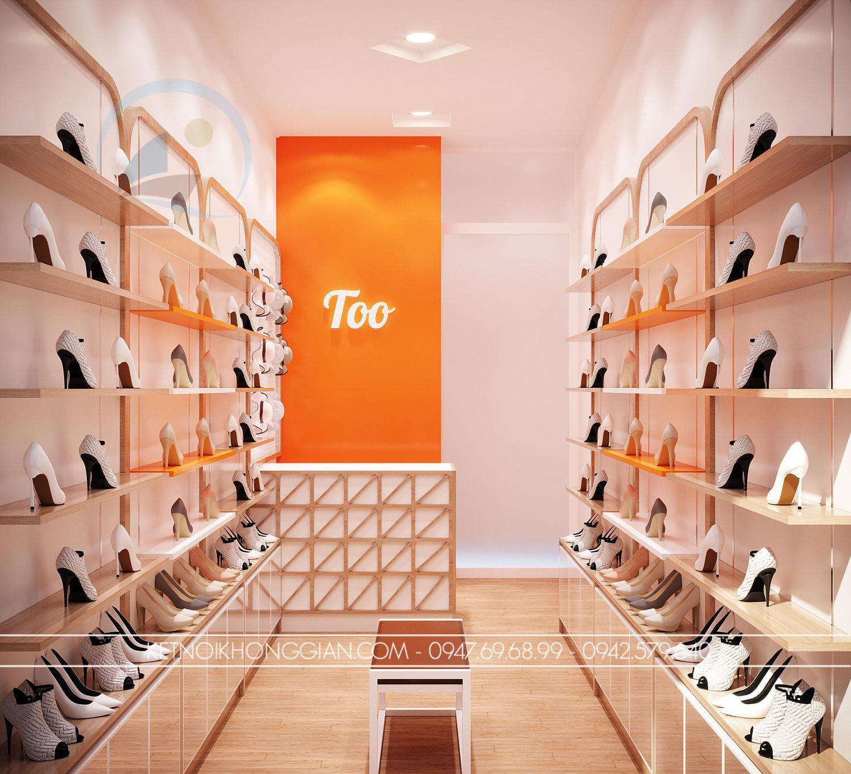 thiết kế shop giày nhỏ
