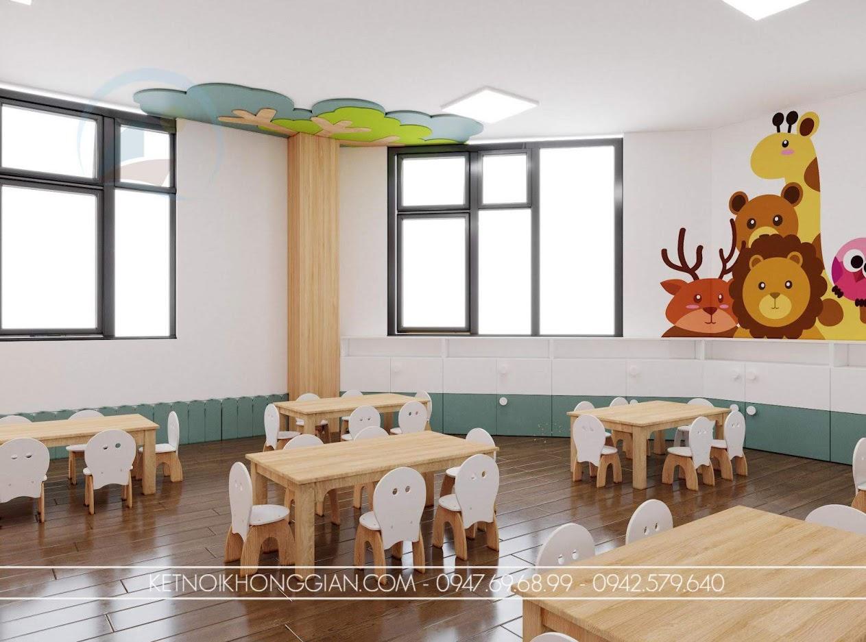 thiết kế nội thất phòng học mầm non