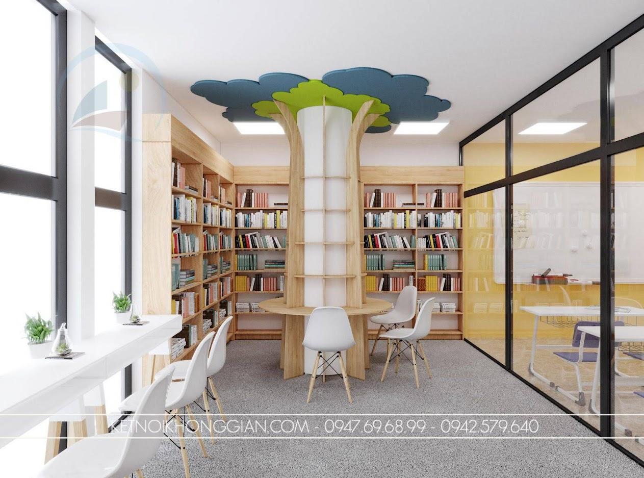 thiết kế nội thất thư viện