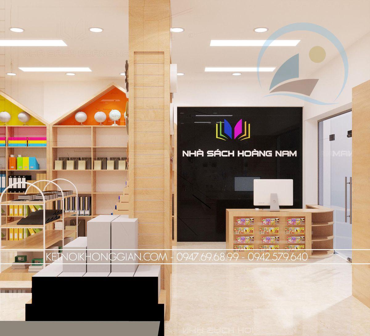 thiết kế cửa hàng sách