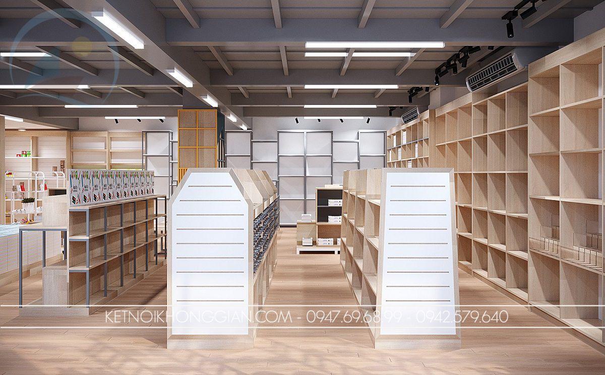nội thất cửa hàng sách