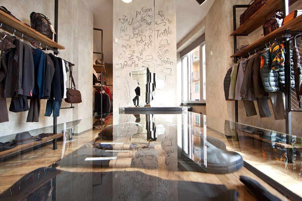 mẫu thiết kế shop quần áo nam
