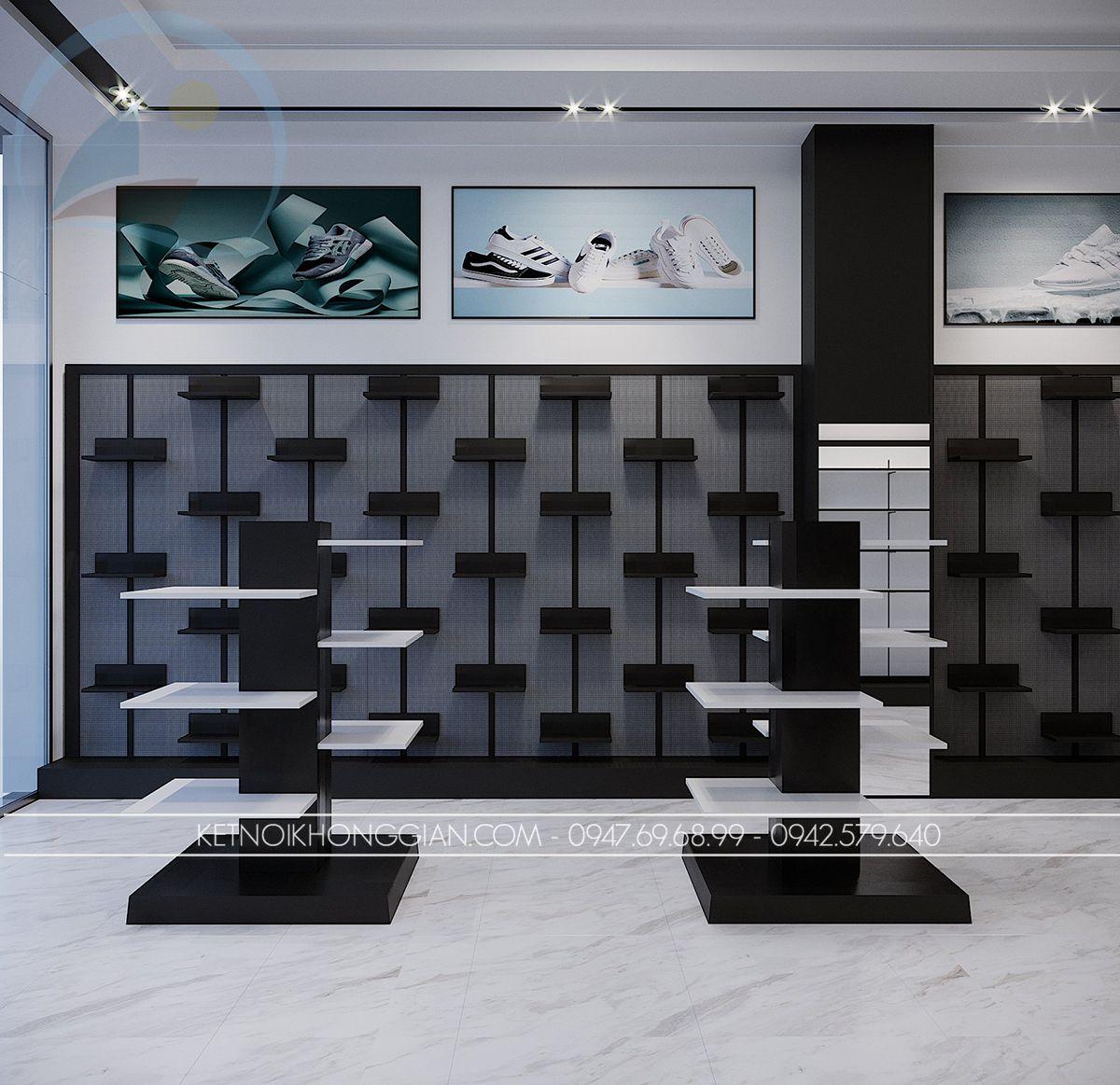 thiết kế shop giày nam