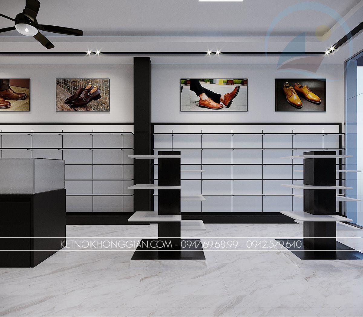 kệ trưng bày giày shop