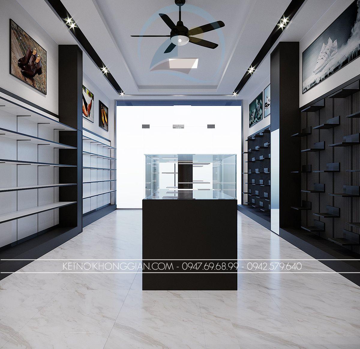 bài trí nội thất shop giày
