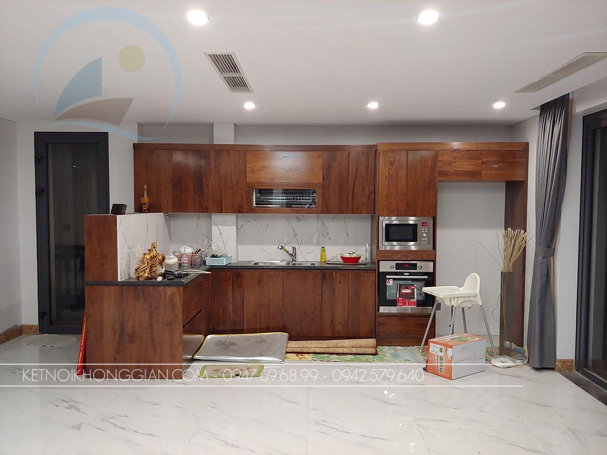 thiết kế nhà bếp biệt thự