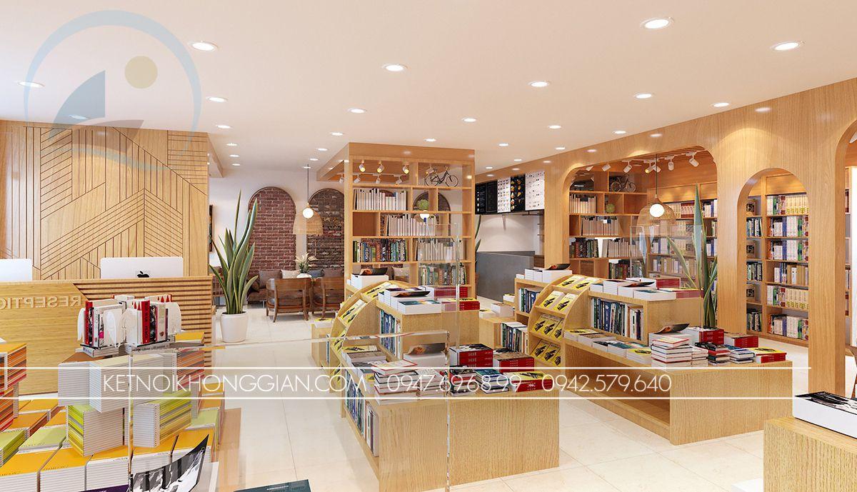 thiết kế quán cafe sách