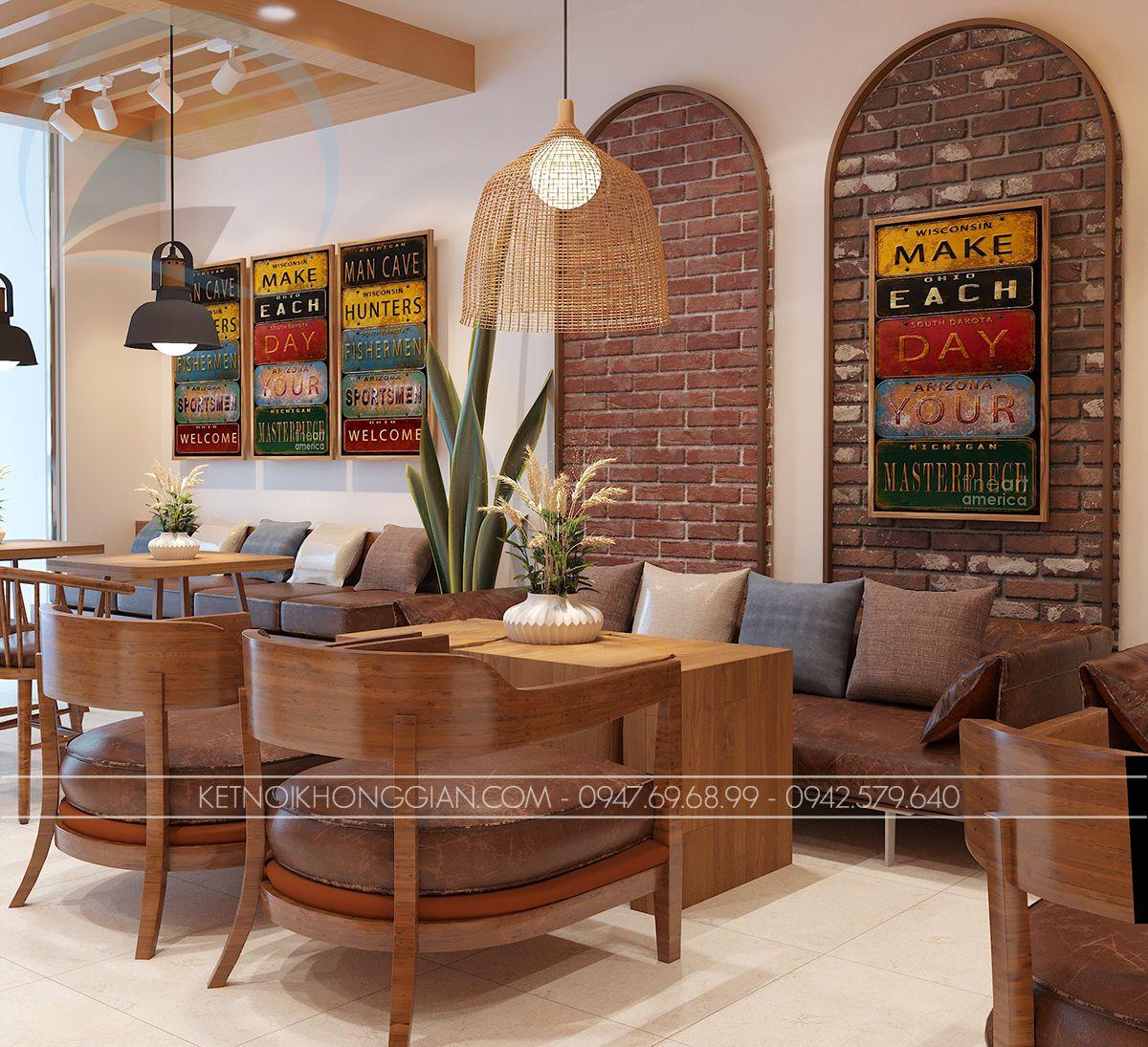 thiết kế quán cà phê sách