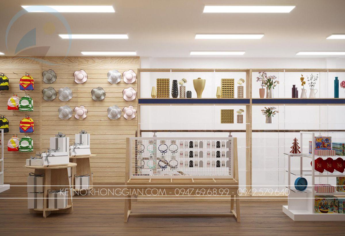 thiết kế nhà sách 2 tầng tại hà nội