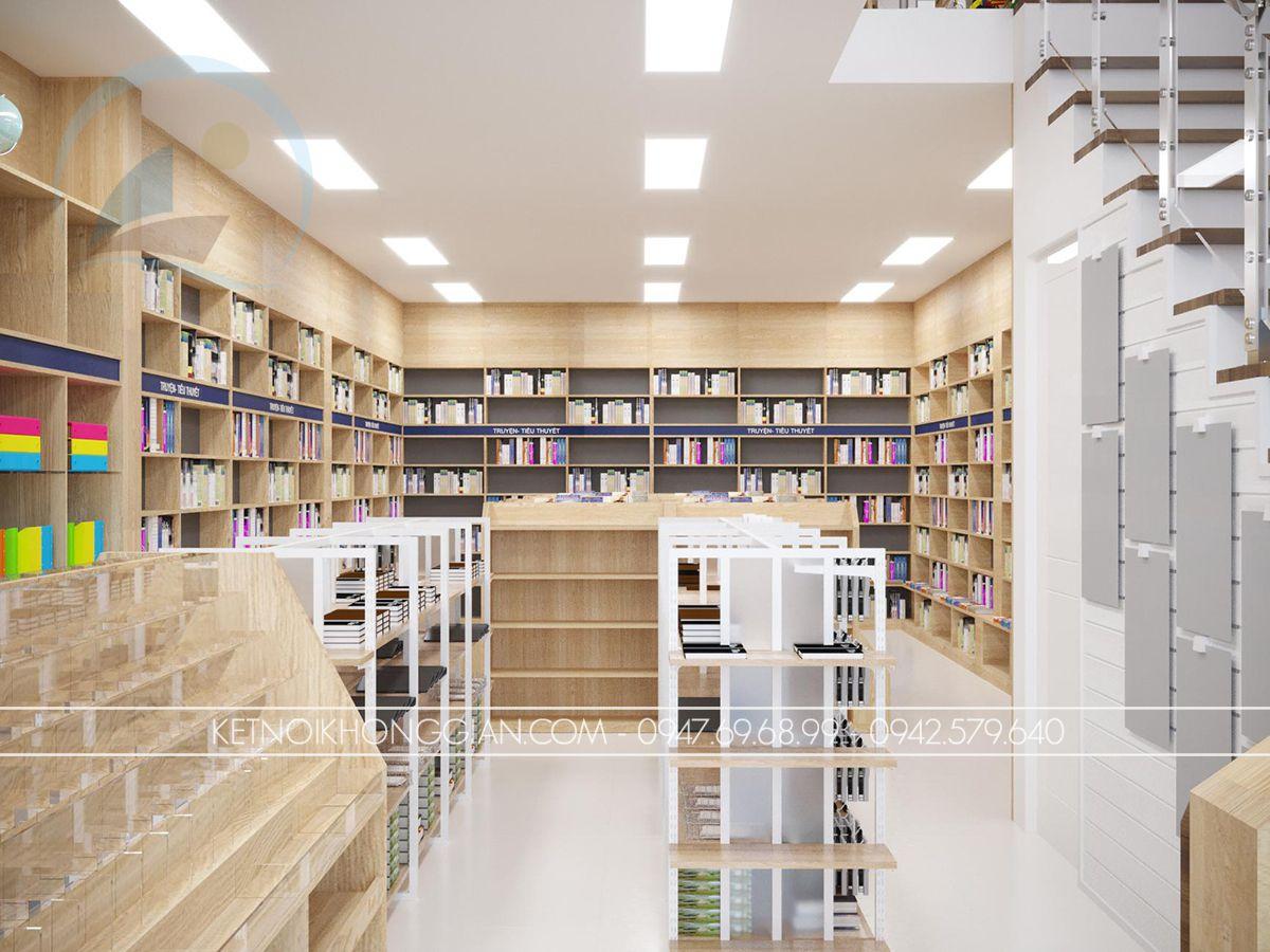 thiết kế nhà sách đẹp