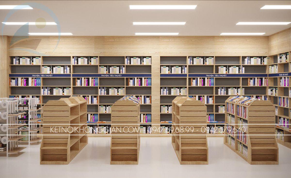 thiết kế nội thất hiệu sách