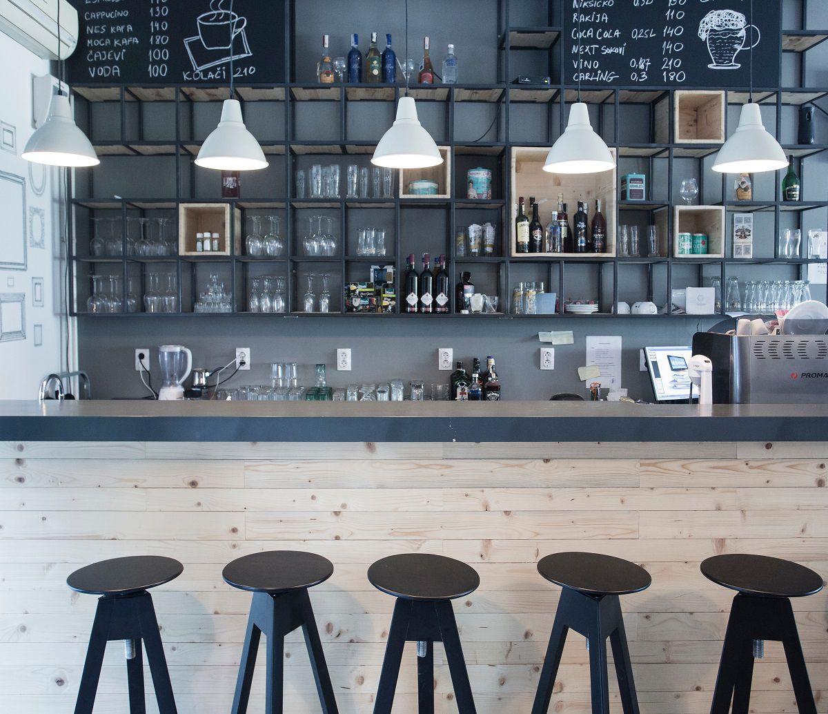 thiết kế quán cafe sách hiện đại