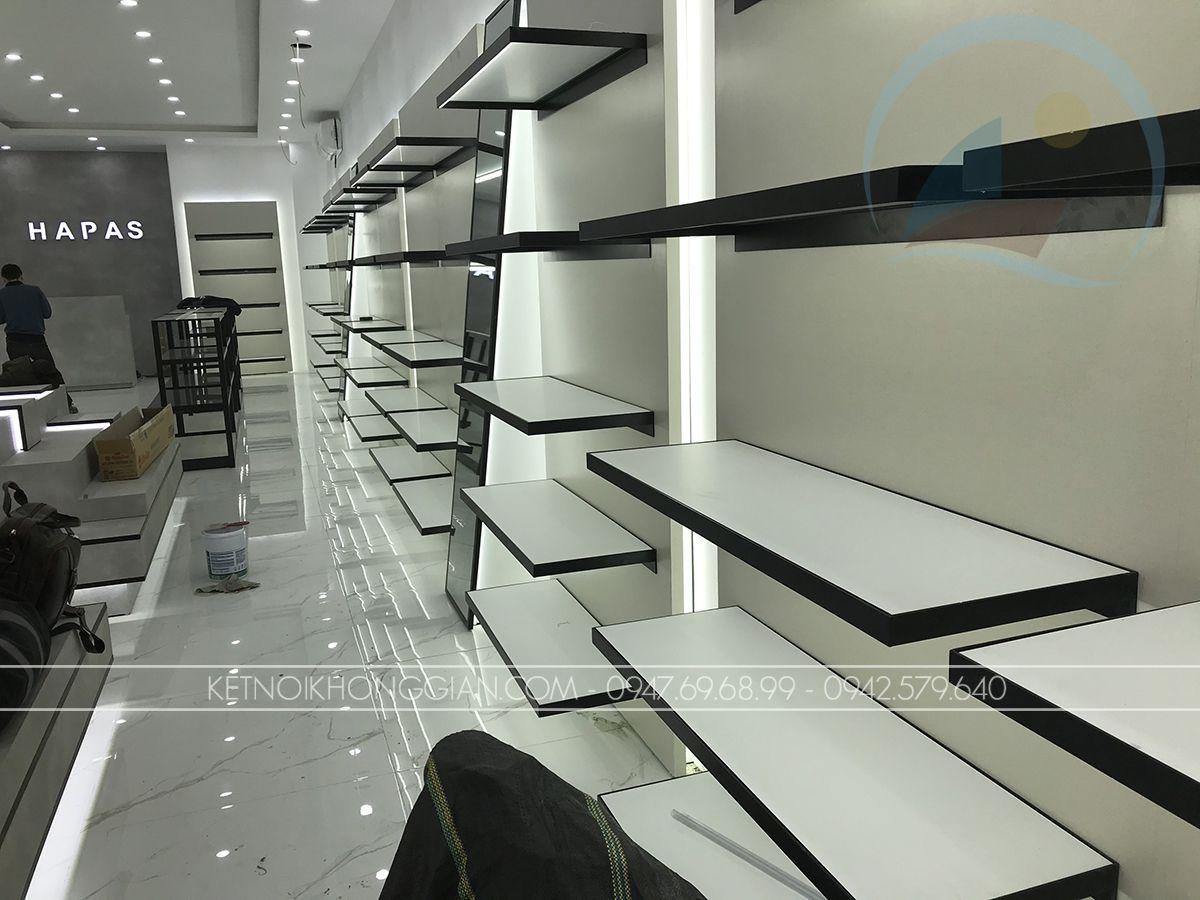 thiết kế thi công shop giày