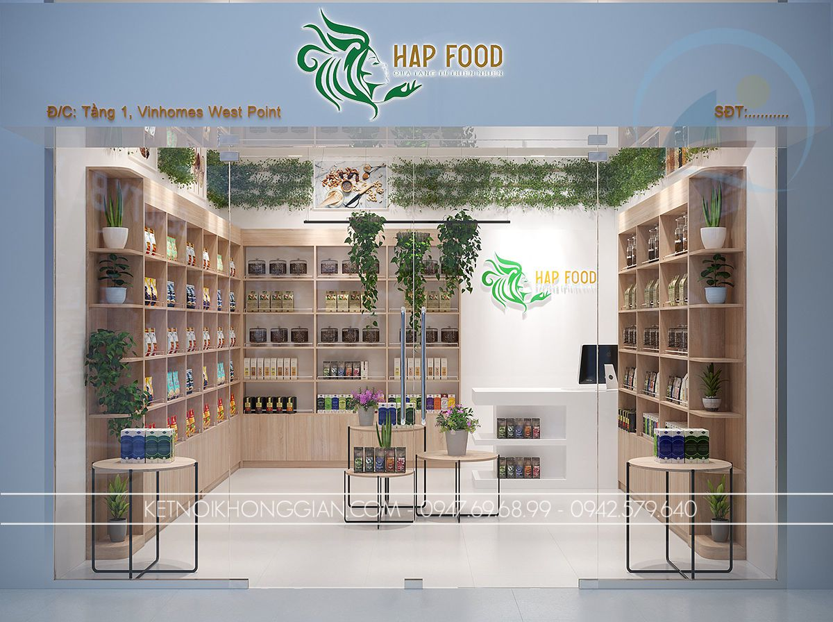 thiết kế gian hàng hạt dinh dưỡng