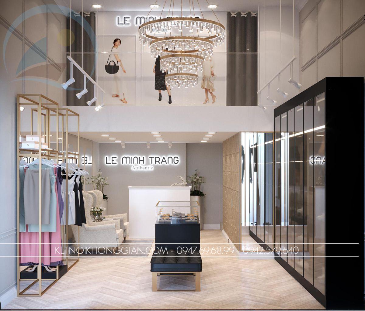 mẫu thiết kế shop thời trang nữ cao cấp