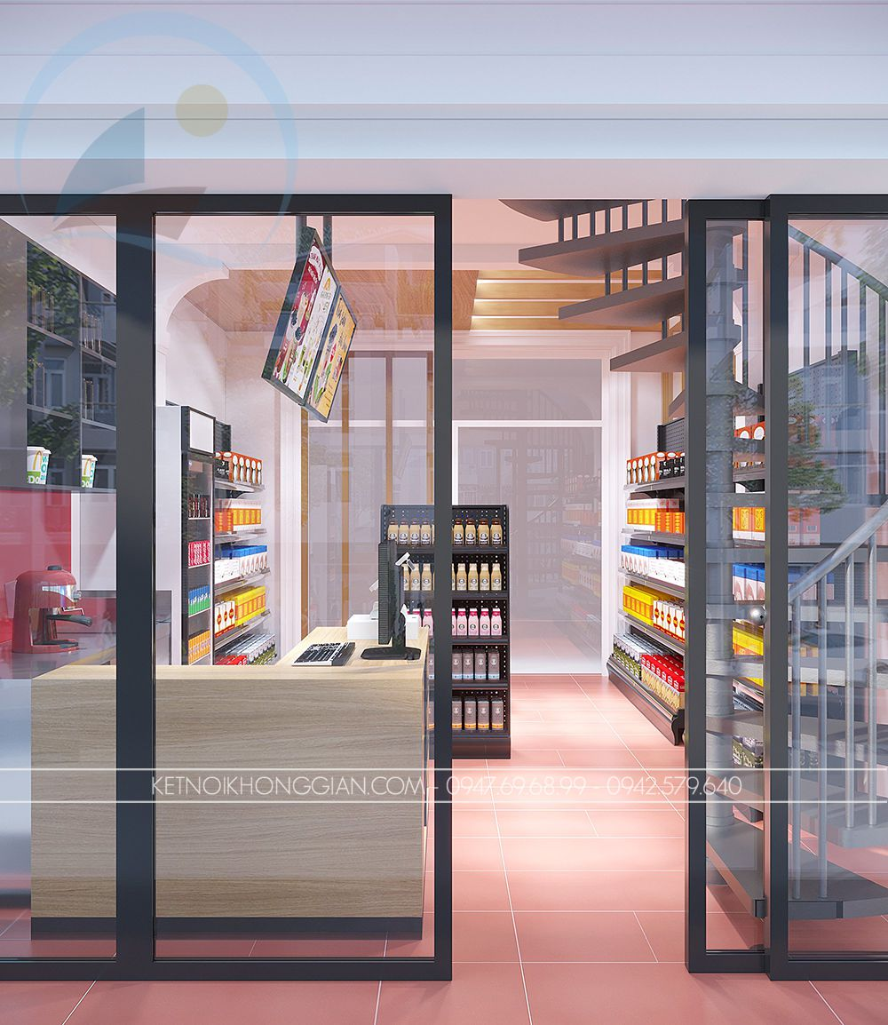 thiết kế cửa hàng tiện lợi nhỏ