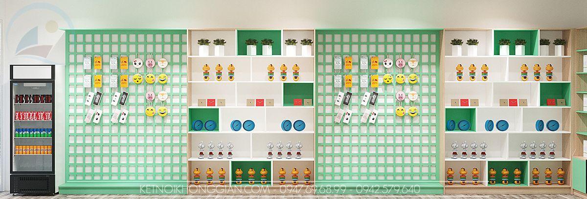 thiết kế cửa hàng văn phòng phẩm Phú Quốc