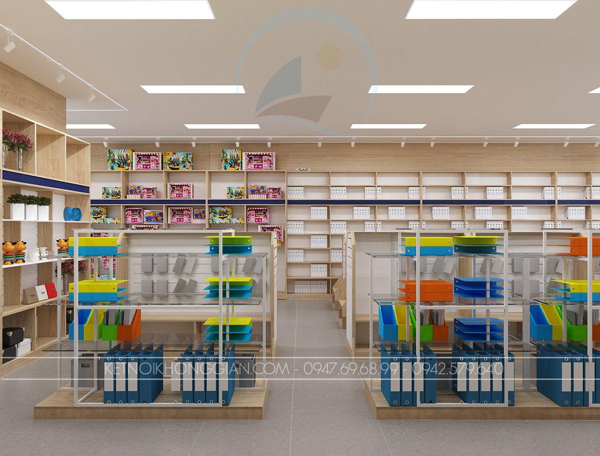 Thiết kế nội thất cửa hàng sách