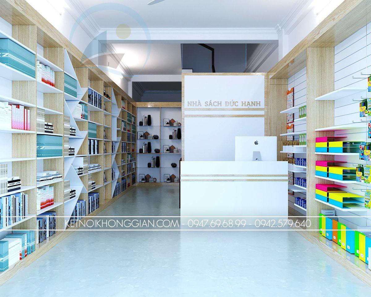thiết kế nhà sách 30m2
