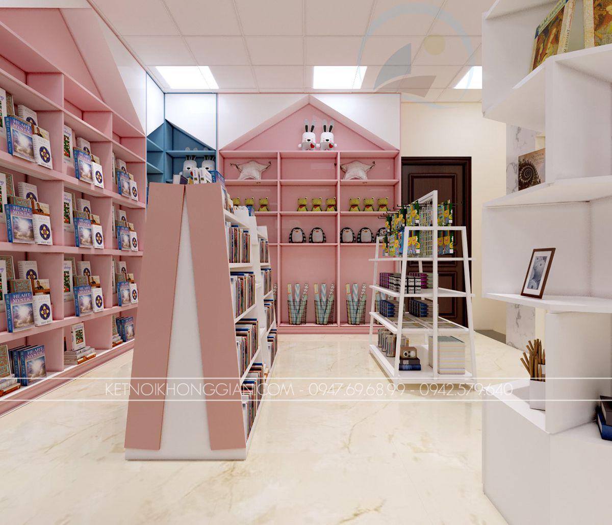 tủ trưng bày sách
