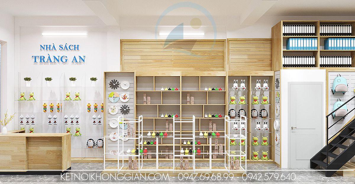 thiết kế nội thất nhà sách 50m2