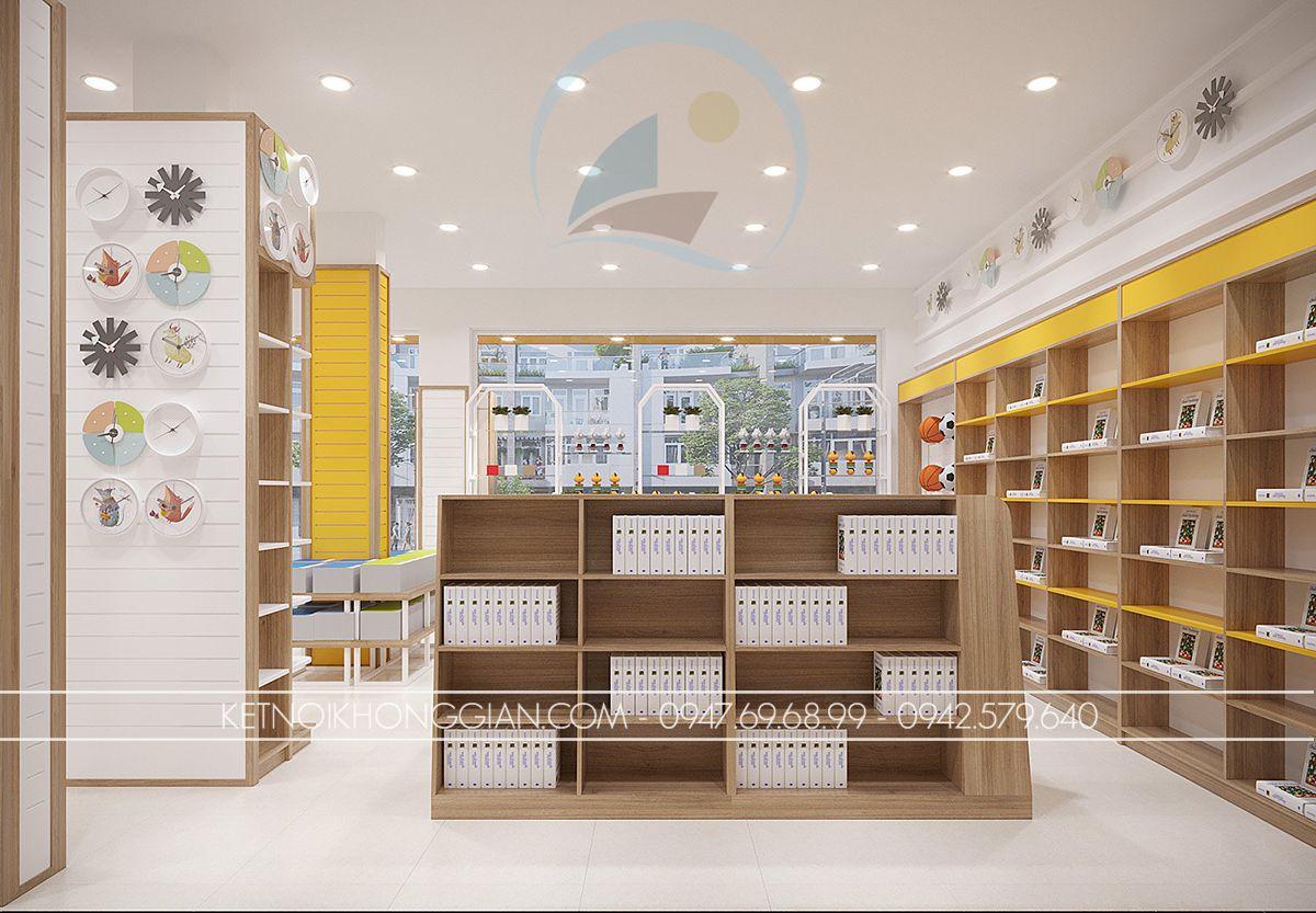 thiết kế cửa hàng văn phòng phẩm