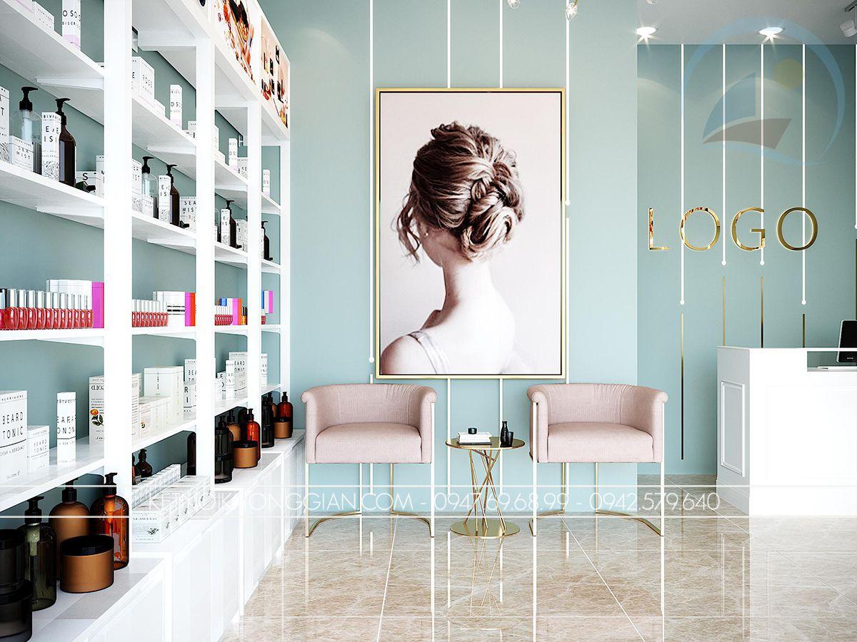 thiết kế trang trí cửa hàng mỹ phẩm