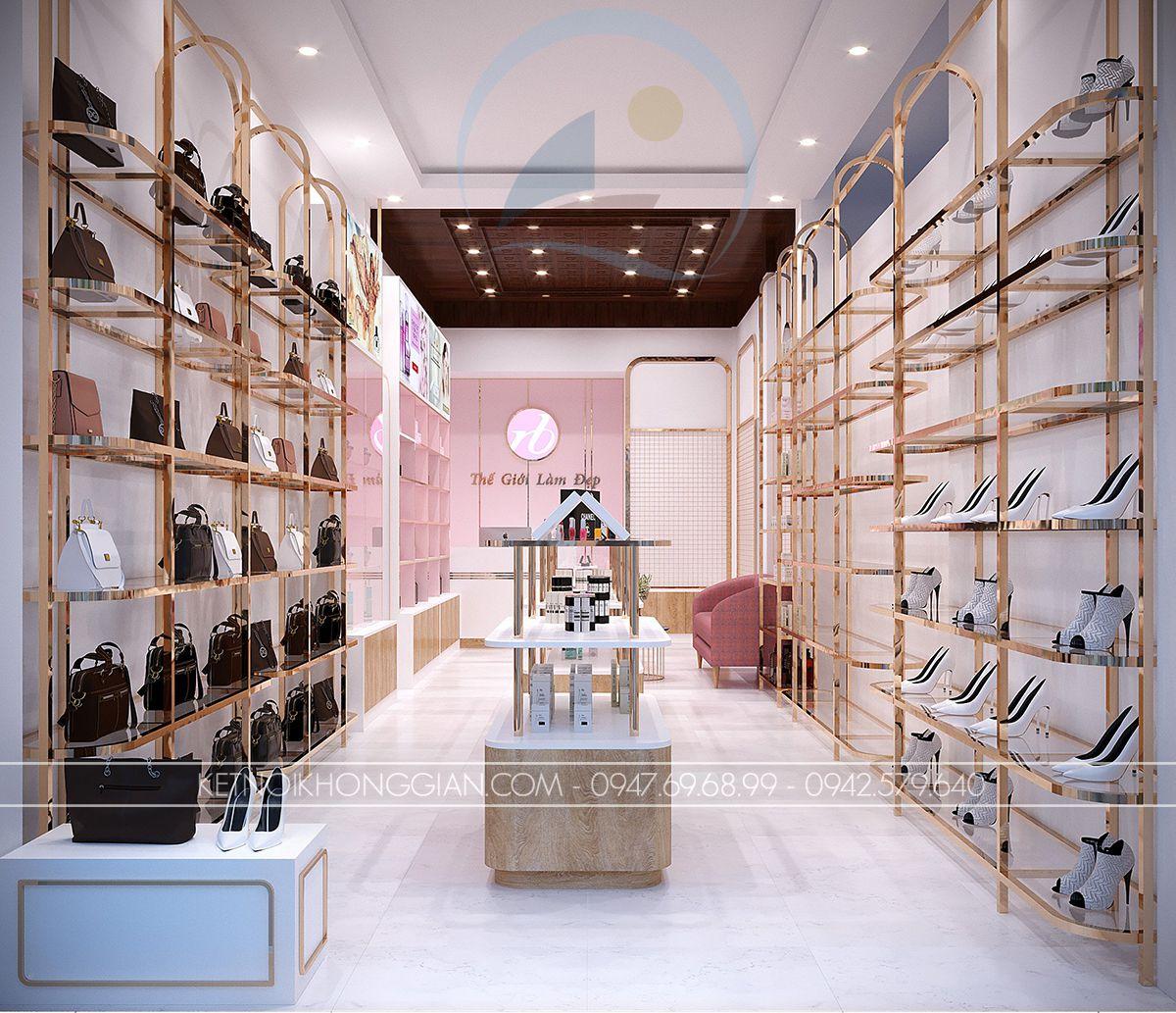 thiết kế shop giày dép túi xách
