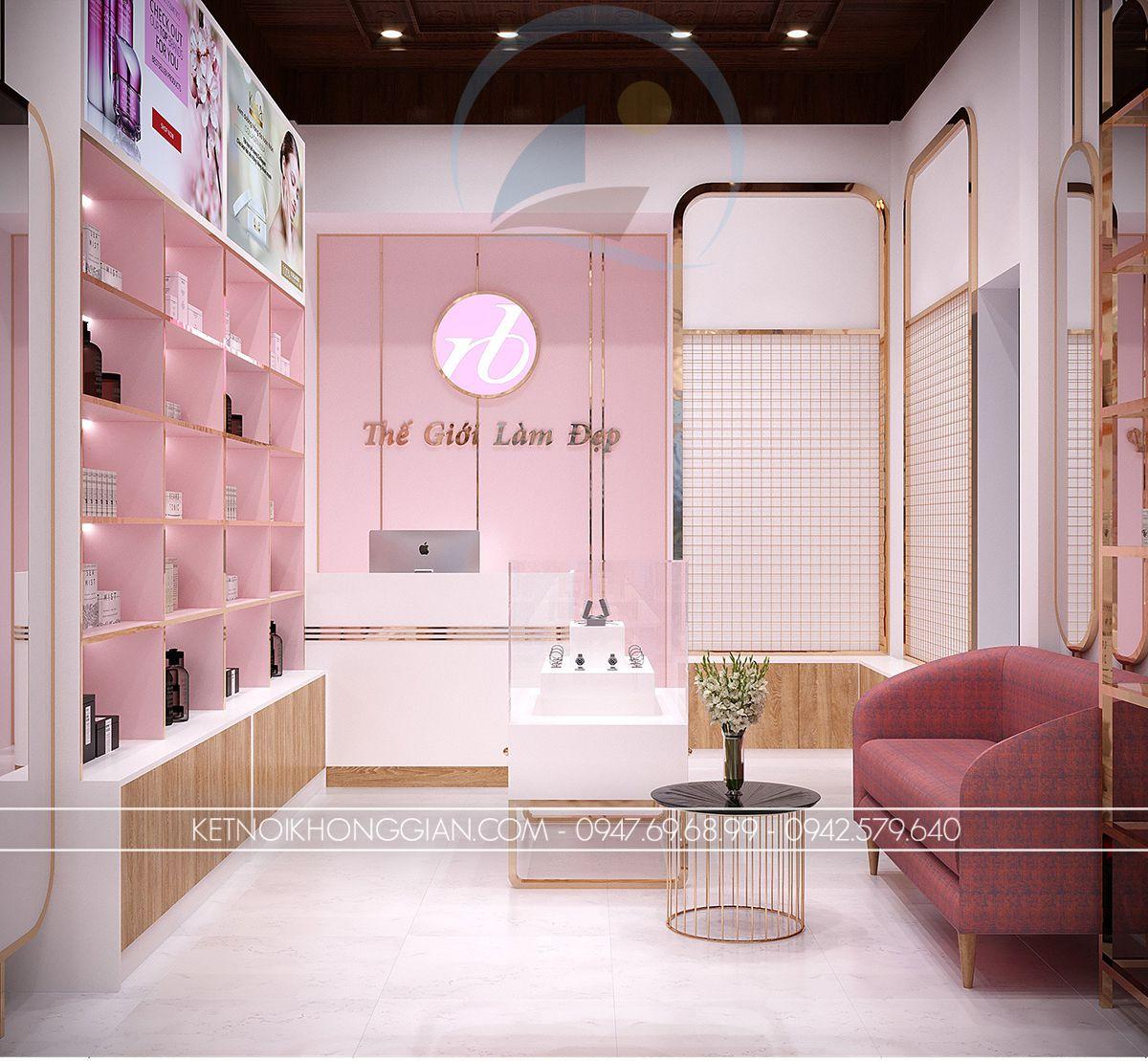 thiết kế góc livestream cửa hàng