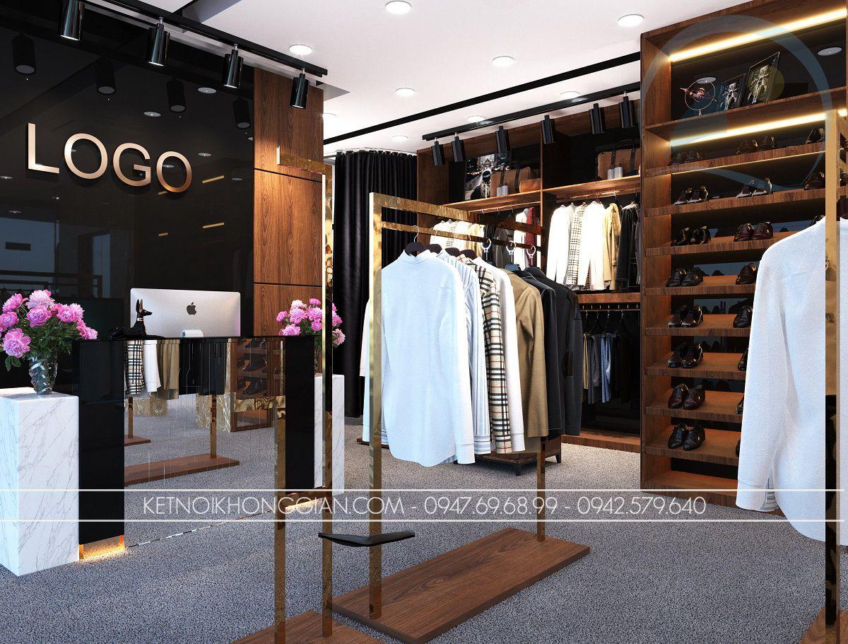 thiết kế shop thời trang nam 54m2