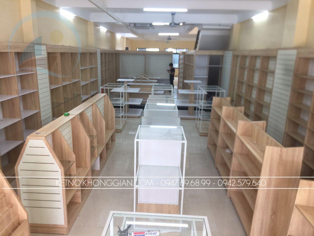 Thi công sản xuất nội thất nhà sách