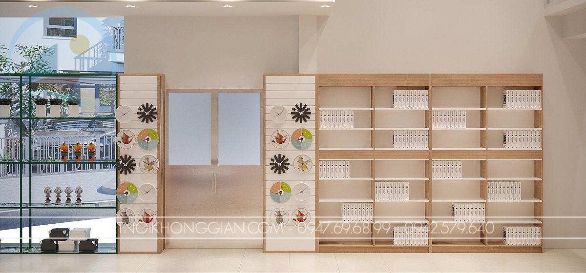 mẫu thiết kế nhà sách 70m2