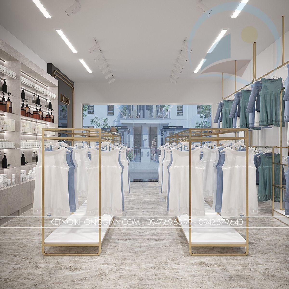thiết kế cửa hàng thời trang cao cấp