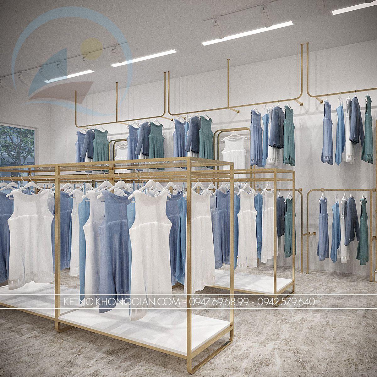 mẫu giá treo quần áo shop thời trang