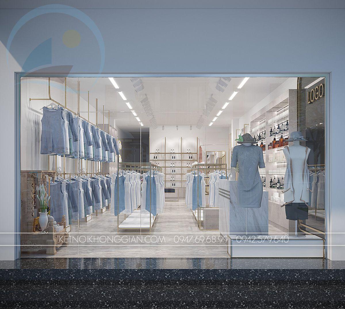 thiết kế shop thời trang 90m2