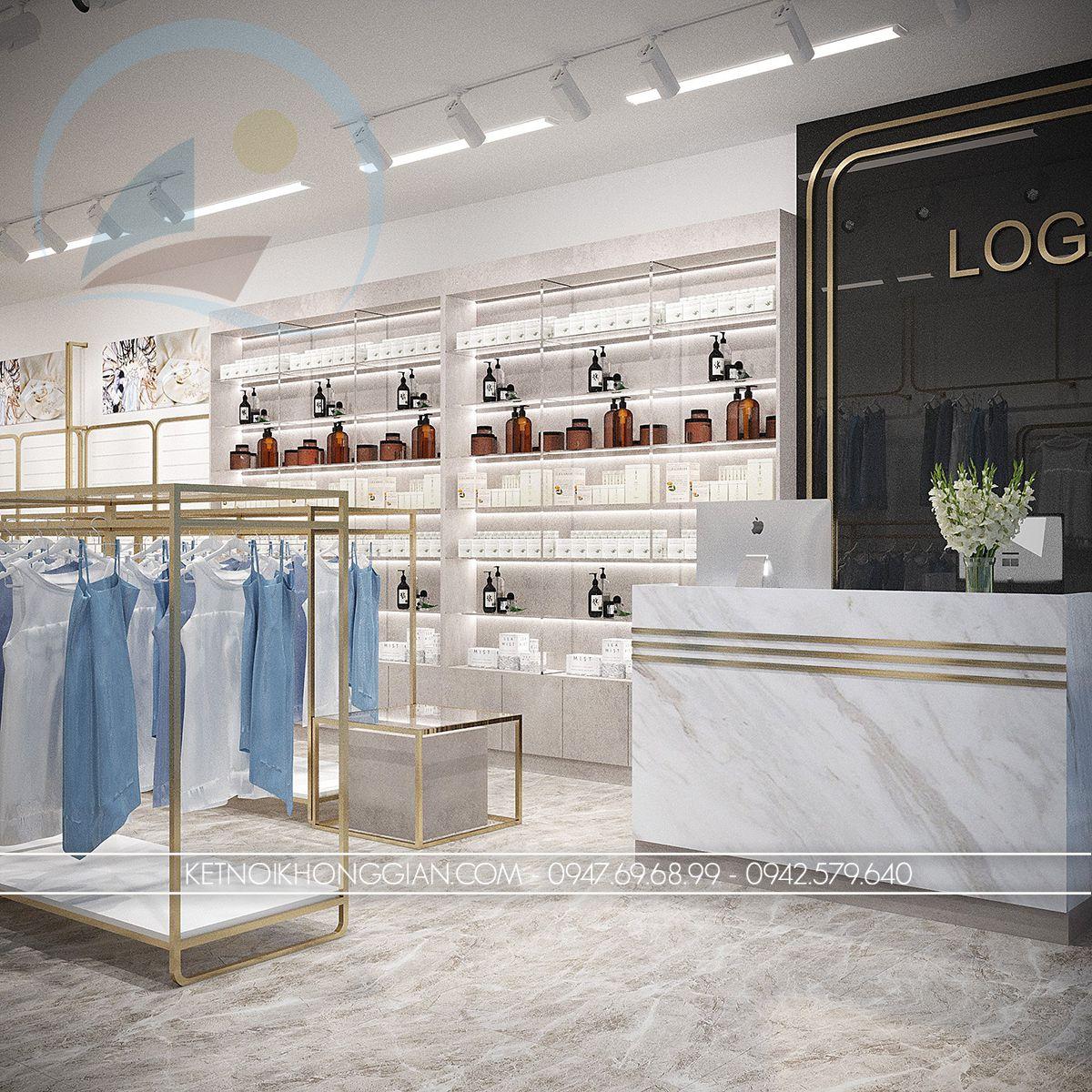 thiết kế nội thất shop thời trang