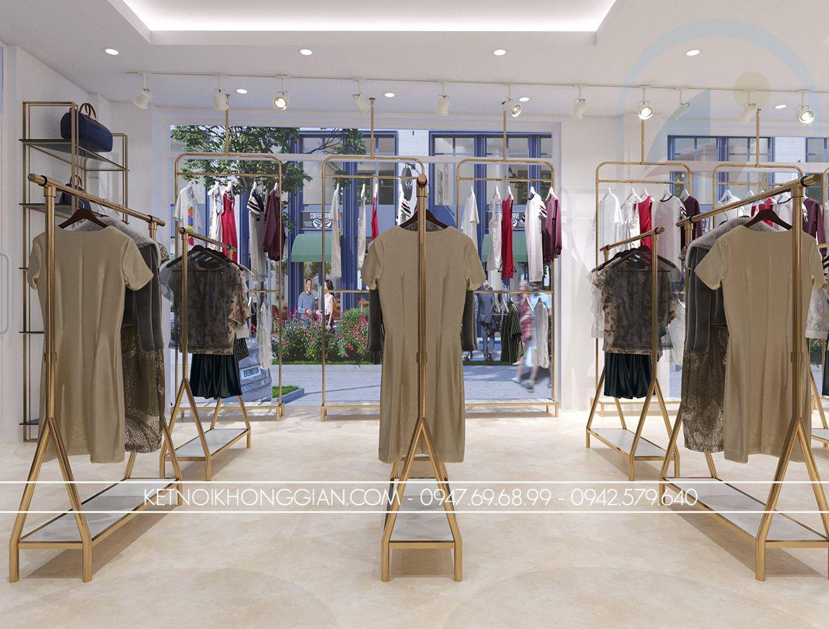 thiết kế shop quần áo 60m2