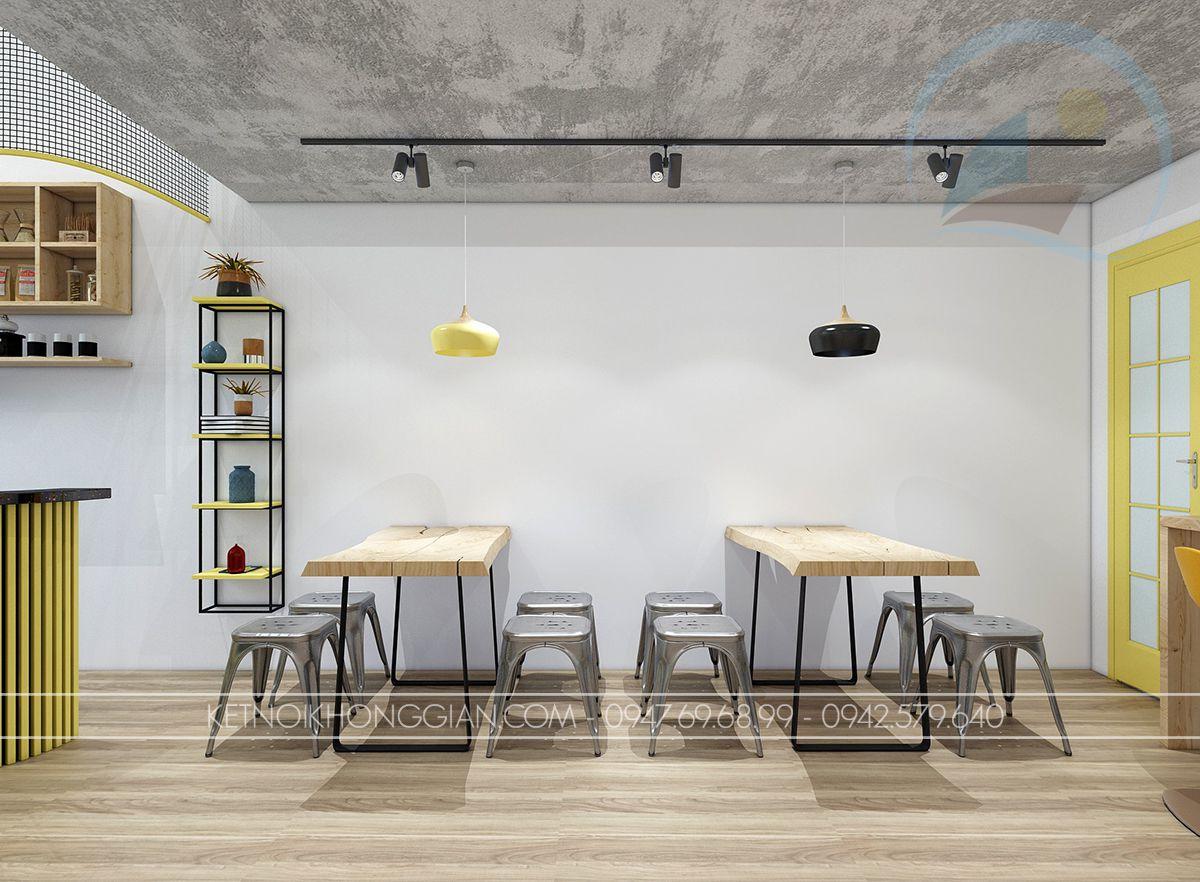 thiết kế quán ăn đơn giản