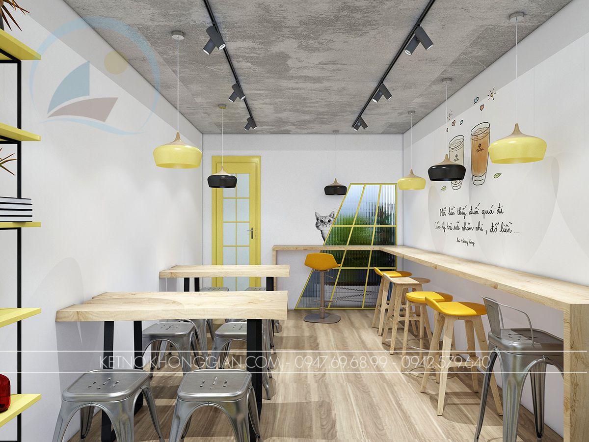 thiết kế nội thất quán ăn vặt