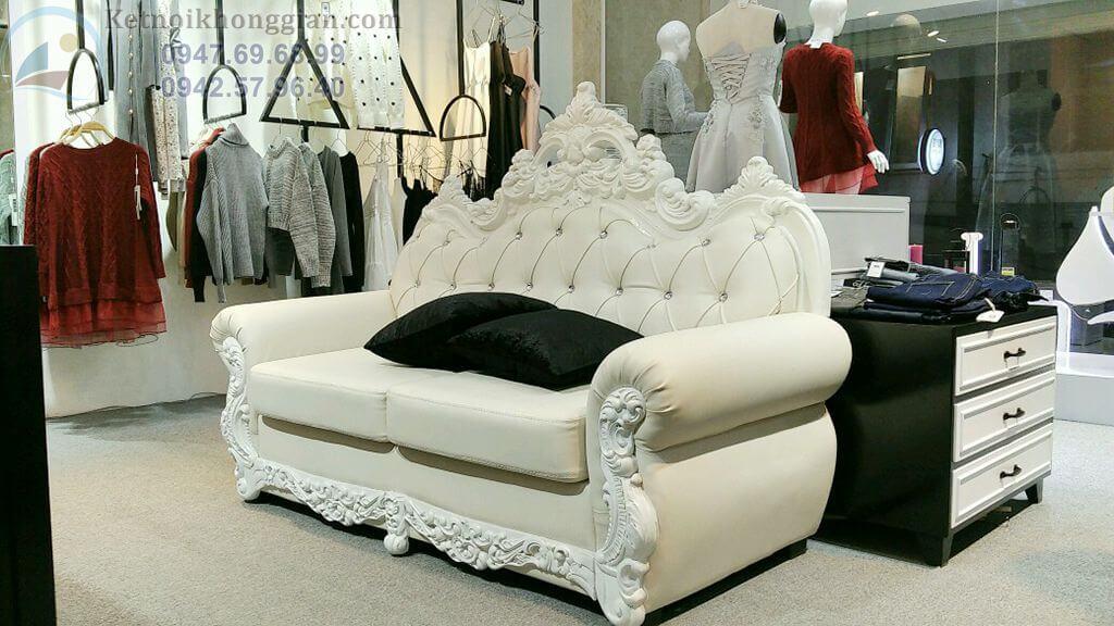 Sofa tân cổ điển cho shop thời trang