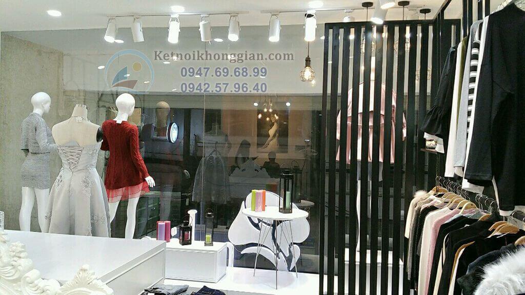 thi công nội thất shop thời trang 50m2