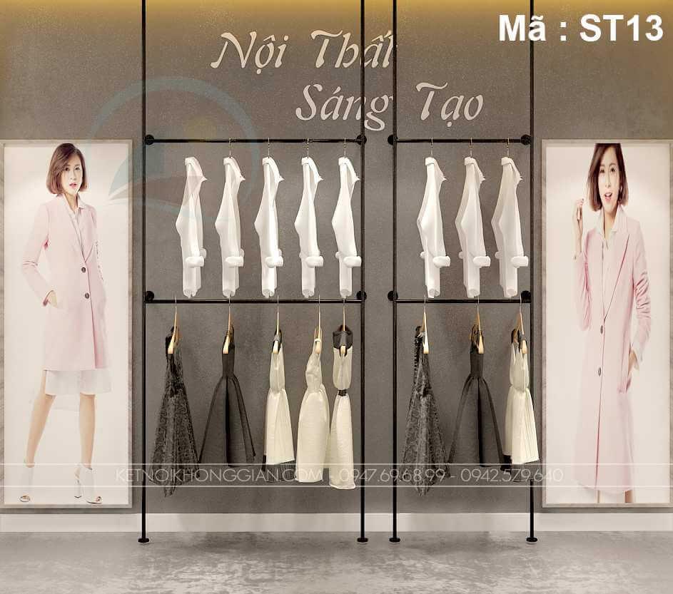 giá treo quần áo 2 tầng shop