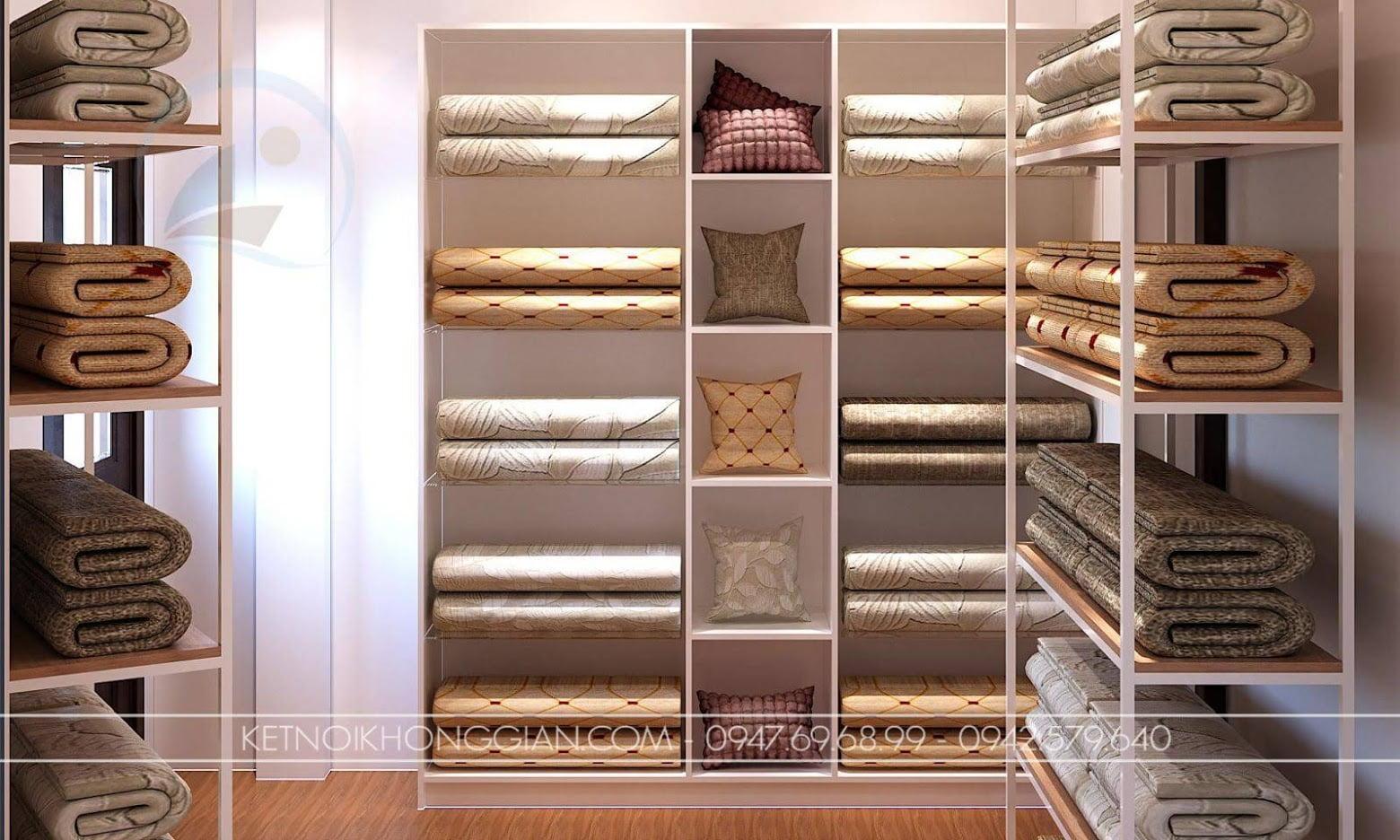 thiết kế nội thất shop chăn ga